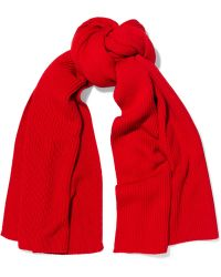 Lemaire - Ribbed Wool Scarf - Lyst