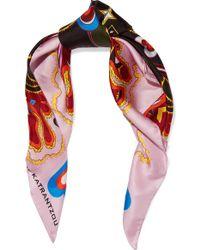 Mary Katrantzou - Printed Silk-twill Scarf - Lyst