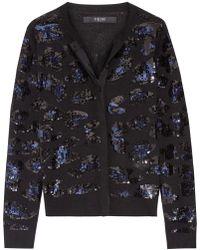 Sibling - Sequin-embellished Merino Wool Cardigan - Lyst