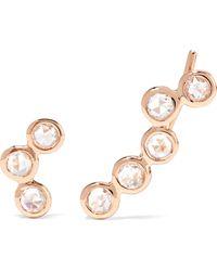Lito - Hive 18-karat Rose Gold Diamond Earrings - Lyst