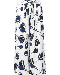 Jason Wu - Belted Printed Crepe Culottes - Lyst