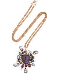Daniela Villegas - Asteria 18-karat Rose Gold Multi-stone Necklace - Lyst