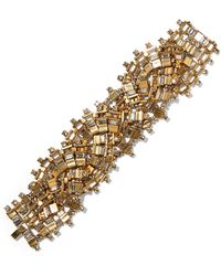 Erickson Beamon - River Song Gold-plated Crystal Bracelet - Lyst