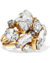 Erickson Beamon - River Song Gold-plated Crystal Ring - Lyst