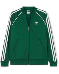 adidas Originals - Superstar Striped Satin-jersey Track Jacket - Lyst
