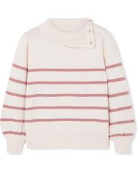 Co. - Striped Wool And Cashmere-blend Jumper - Lyst