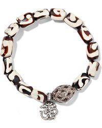 Loree Rodkin - Oxidized Sterling Silver, Wood And Diamond Bracelet - Lyst