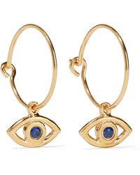 Iam By Ileana Makri - Eye Gold-plated Cubic Zirconia Hoop Earrings - Lyst