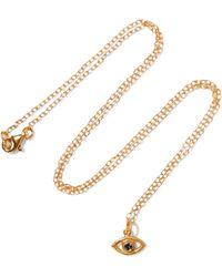 Iam By Ileana Makri - Eye Gold-plated Cubic Zirconia Necklace - Lyst