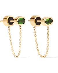 Iam By Ileana Makri - Ponds Gold-plated Diopside Earrings - Lyst
