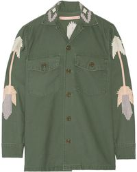 Bliss and Mischief - East At Dawn Embroidered Cotton-canvas Jacket - Lyst