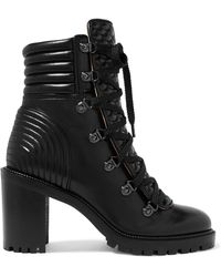 Christian Louboutin - Mad 70 Spiked Quilted Leather Ankle Boots - Lyst