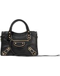 Balenciaga - Classic Metallic Edge City Mini Textured-leather Shoulder Bag  - Lyst 4f5a02040b