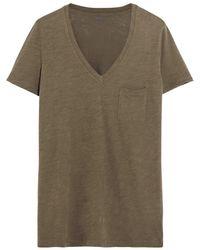 Madewell - Whisper Slub Cotton-jersey T-shirt - Lyst