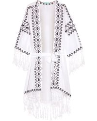 Melissa Odabash - Nic Embroidered Voile Robe - Lyst