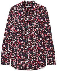 Equipment - Slim Signature Floral-print Crepe Shirt - Lyst