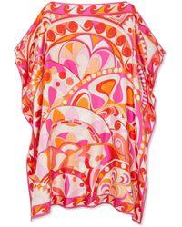 Emilio Pucci - Nigeria Printed Silk-satin Twill Kaftan - Lyst