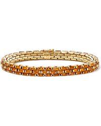 Fred Leighton - 2000s 19-karat Gold Citrine Bracelet - Lyst
