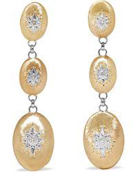 Buccellati - Macri 18-karat Yellow And White Gold Diamond Earrings - Lyst