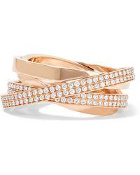Repossi - Technical Berbère 18-karat Rose Gold Diamond Ring Rose Gold 54 - Lyst