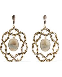 Loree Rodkin | 18-karat Gold, Sapphire And Diamond Earrings | Lyst