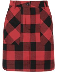 Tomas Maier - Checked Cotton Mini Skirt - Lyst