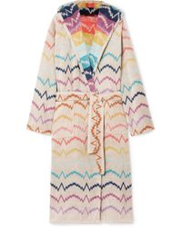 Missoni - Vera Hooded Cotton-terry Robe - Lyst