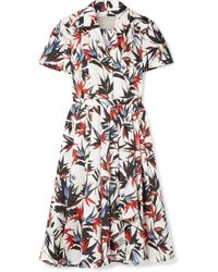 Jason Wu - Pleated Printed Cotton-poplin Dress - Lyst