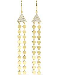 Jennifer Meyer - Mini Circle Fringe Ohrringe Aus 18 Karat Gold Mit Diamanten - Lyst