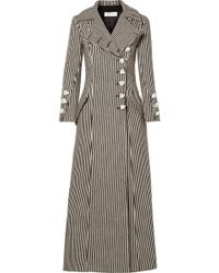 Marques'Almeida - Striped Cotton-blend Coat - Lyst