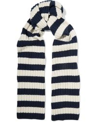 J.Crew | Striped Ribbed Cashmere Scarf | Lyst