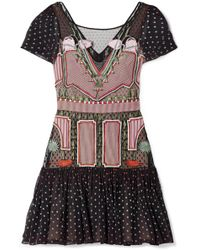 Temperley London | Bourgeois Silk Chiffon-paneled Embroidered Point D'esprit Mini Dress | Lyst