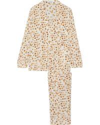Equipment - Avery Printed Washed-silk Pyjama Set - Lyst