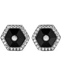 Fred Leighton - Collection 18-karat White Gold, Jade And Diamond Earrings - Lyst