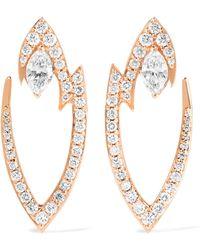 Stephen Webster | Lady Stardust 18-karat Rose Gold Diamond Earrings | Lyst