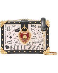 Dolce & Gabbana - Sac Porté épaule En Cuir à Ornements Dolce Box - Lyst