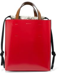Marni - Museo Color-Blocked Leather Tote - Lyst