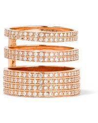 Repossi - Berbère Module 18-karat Rose Gold Diamond Ring - Lyst