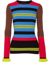 Opening Ceremony - Striped Ribbed-knit Jumper - Lyst