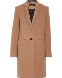 Rag & Bone - Emmet Crombie Leather-trimmed Wool-blend Coat - Lyst