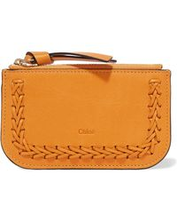Chloé - Hudson Whipstitched Leather Cardholder - Lyst