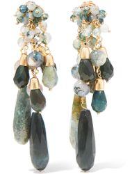Rosantica - Rifugio Gold-tone Agate Clip Earrings - Lyst