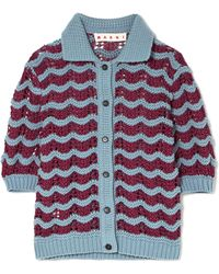 Marni - Crocheted Wool-blend Cardigan - Lyst