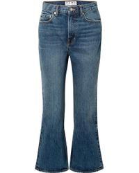 Proenza Schouler - Pswl Cropped High-rise Flared Jeans - Lyst