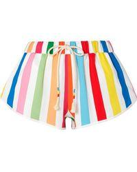 Mira Mikati - Striped Crepe Shorts - Lyst
