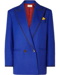 Sara Battaglia - Handkerchief Double-breasted Blazer - Lyst