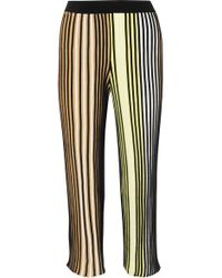 KENZO - Cropped Striped Ribbed-knit Flared Pants - Lyst