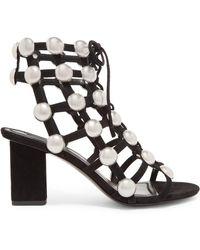 Alexander Wang - Rainey Studded Suede Sandals - Lyst