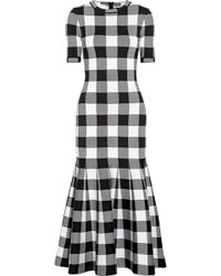 Oscar de la Renta - Checked Dress - Lyst