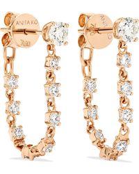 Anita Ko - 18-karat Rose Gold Diamond Earrings Rose Gold One Size - Lyst